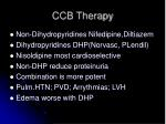ccb therapy