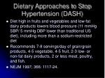 dietary approaches to stop hypertension dash