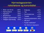 hjerneslagpasienten risikofaktorer og komorbiditet
