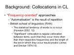 background collocations in cl2
