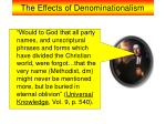 the effects of denominationalism11