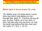 the effects of denominationalism2