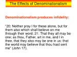 the effects of denominationalism8