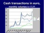 cash transactions in euro monthly volumes bn eur