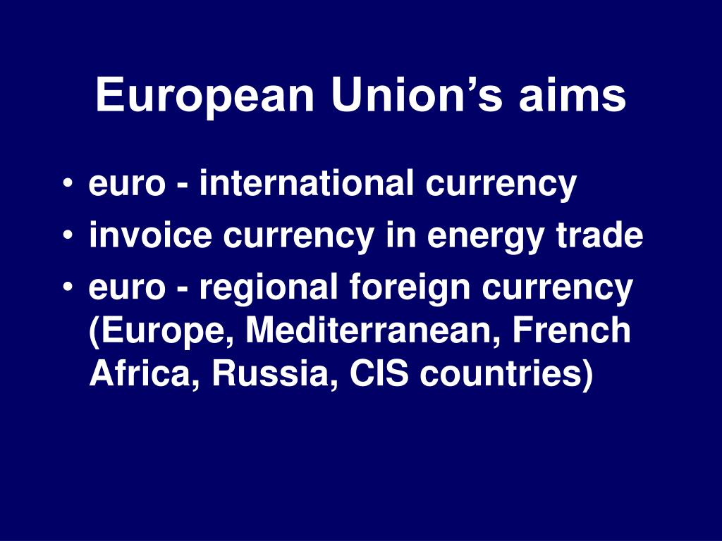 European Union's aims