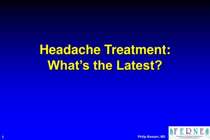 headache treatment what s the latest n.