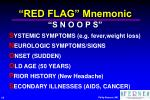 red flag mnemonic