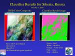 classifier results for siberia russia october 8 2000