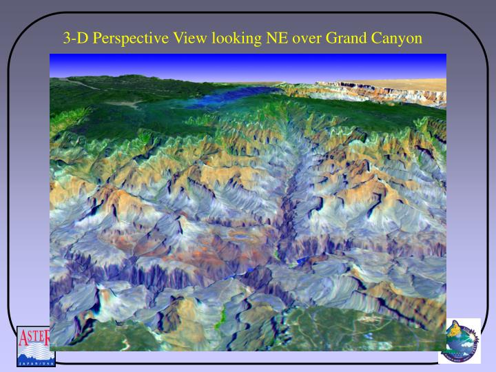 3-D Perspective View looking NE over Grand Canyon