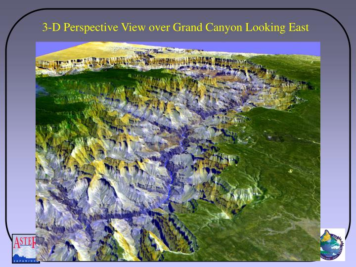 3-D Perspective View over Grand Canyon Looking East
