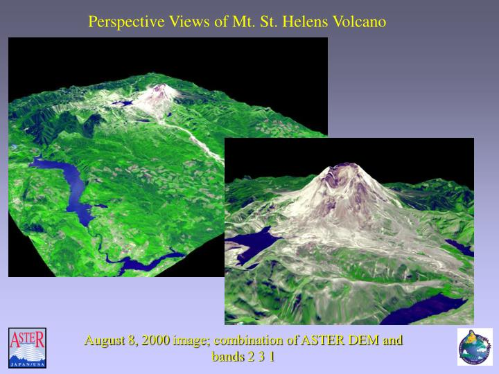 Perspective Views of Mt. St. Helens Volcano