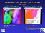 validation results for barrow ak arm site april 21 2001
