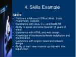 4 skills example