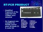 rt pcr product