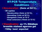 rt pcr temperature conditions