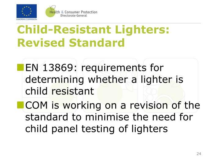 Child-Resistant Lighters: Revised Standard