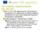 fire safety requirements for the eu