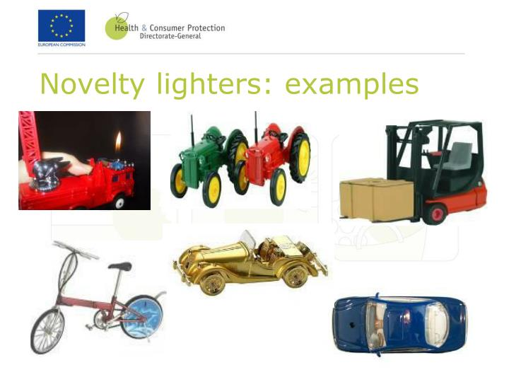 Novelty lighters: examples