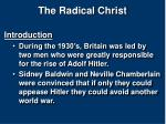 the radical christ