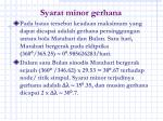 syarat minor gerhana