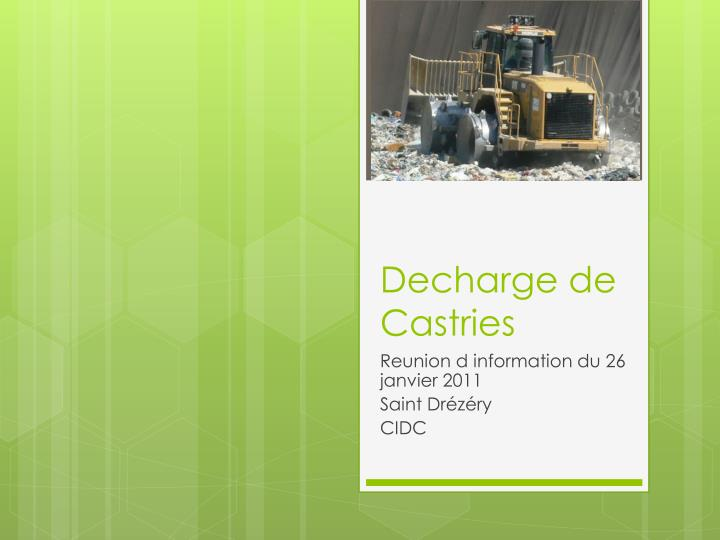 decharge de castries n.