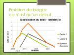 emission de biogaz ce n est qu un d but