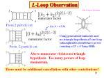 l loop observation