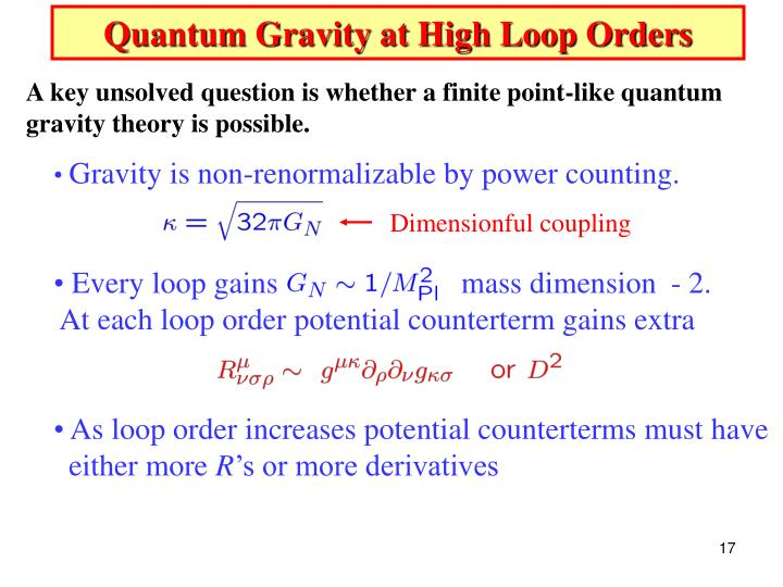 Quantum Gravity at High Loop Orders
