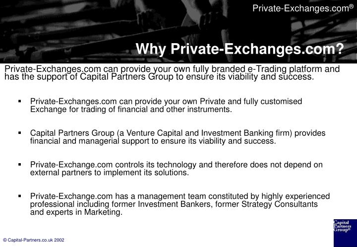 Why private exchanges com