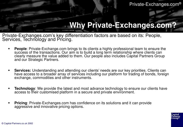 Why private exchanges com3
