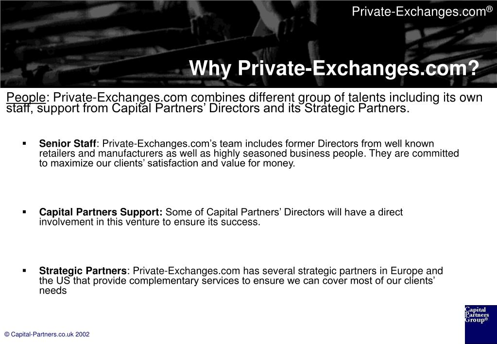 Why Private-Exchanges.com?