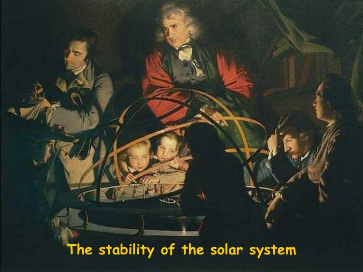 the stability of the solar system n.