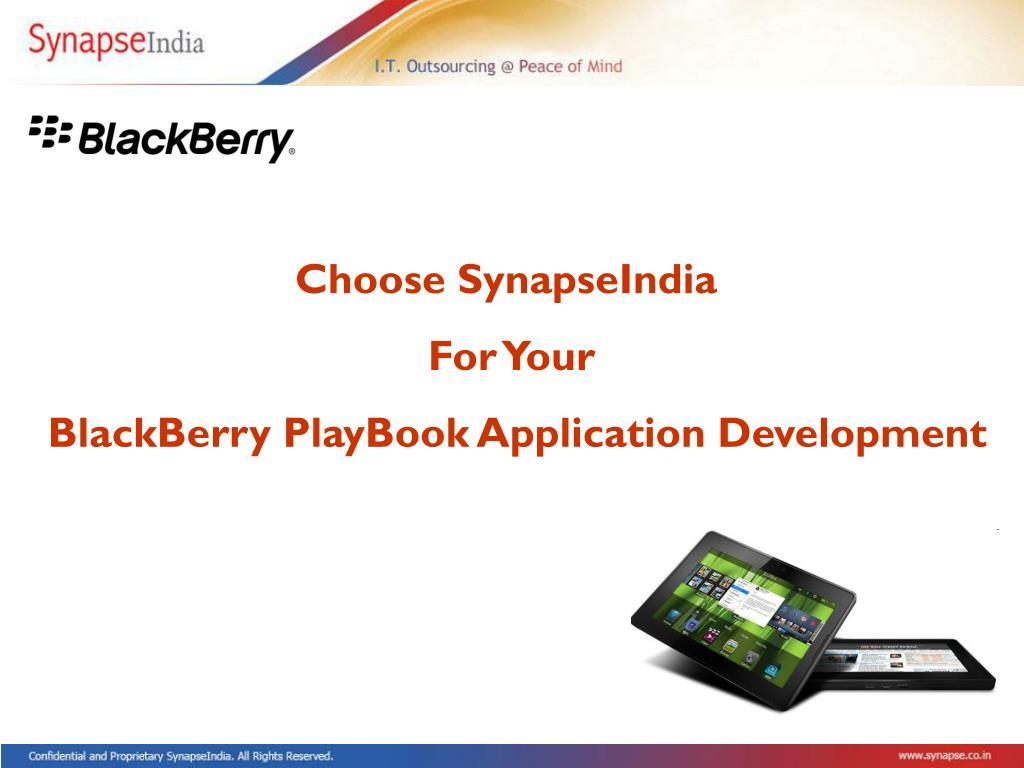 Choose SynapseIndia