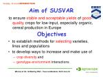 aim of susvar