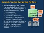 example trusted computing platform