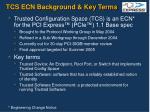tcs ecn background key terms