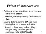effect of interventions