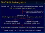 platinum study algorithm