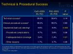 technical procedural success