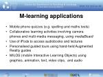 m learning applications