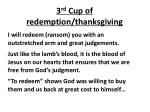 3 rd cup of redemption thanksgiving