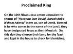proclaimed king