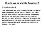 should we celebrate passover