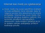 internet kao medij za ogla avanje