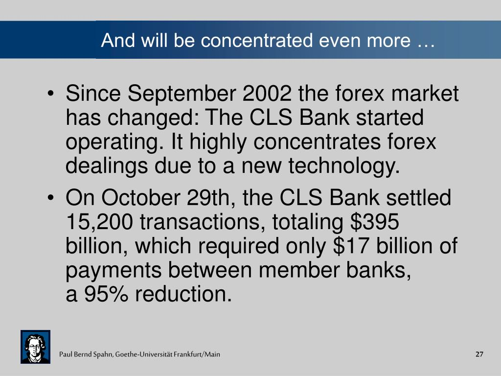 And will be concentrated even more …