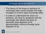 exchange rates in the short run