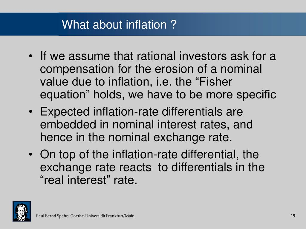 What about inflation ?