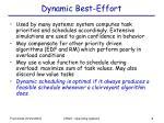 dynamic best effort
