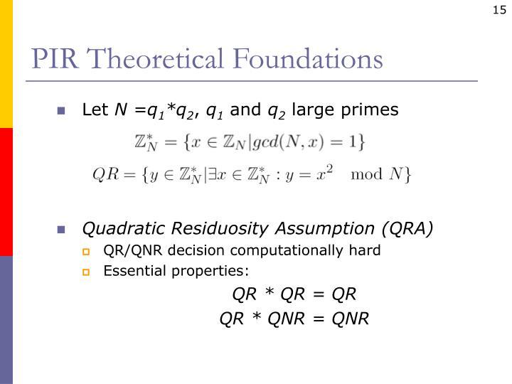 PIR Theoretical Foundations