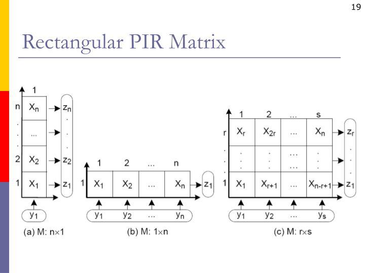 Rectangular PIR Matrix